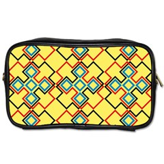 Shapes On A Yellow Background Toiletries Bag (two Sides)