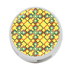 Shapes On A Yellow Background 4 Port Usb Hub (two Sides)