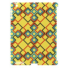 Shapes on a yellow background Apple iPad 3/4 Hardshell Case (Compatible with Smart Cover)