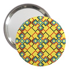 Shapes on a yellow background 3  Handbag Mirror