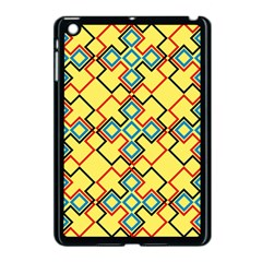 Shapes on a yellow background Apple iPad Mini Case (Black)