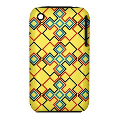 Shapes on a yellow background Apple iPhone 3G/3GS Hardshell Case (PC+Silicone)