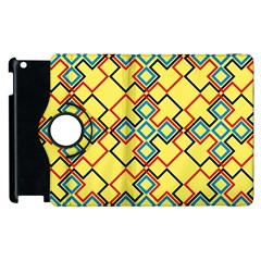 Shapes on a yellow background Apple iPad 3/4 Flip 360 Case