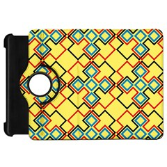 Shapes on a yellow background Kindle Fire HD Flip 360 Case