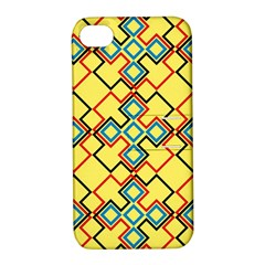 Shapes on a yellow background Apple iPhone 4/4S Hardshell Case with Stand