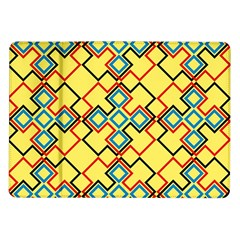Shapes on a yellow background Samsung Galaxy Tab 10.1  P7500 Flip Case