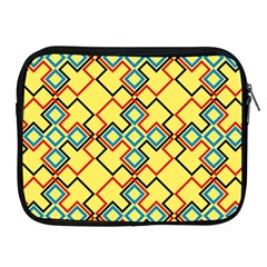 Shapes on a yellow background Apple iPad 2/3/4 Zipper Case