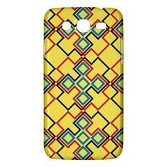 Shapes on a yellow background Samsung Galaxy Mega 5.8 I9152 Hardshell Case