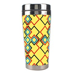 Shapes on a yellow background Stainless Steel Travel Tumbler