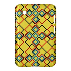 Shapes On A Yellow Background Samsung Galaxy Tab 2 (7 ) P3100 Hardshell Case