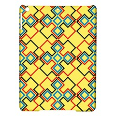 Shapes on a yellow background Apple iPad Air Hardshell Case