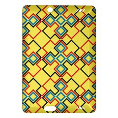 Shapes On A Yellow Background Kindle Fire Hd (2013) Hardshell Case