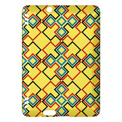 Shapes On A Yellow Background Kindle Fire Hdx Hardshell Case