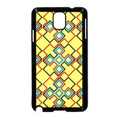 Shapes on a yellow background Samsung Galaxy Note 3 Neo Hardshell Case