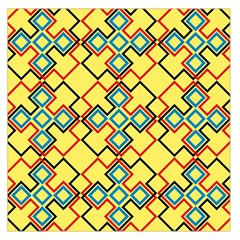 Shapes On A Yellow Background Satin Scarf