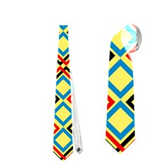 Shapes On A Yellow Background Necktie