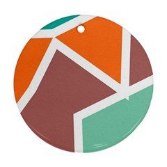 Misc shapes in retro colors Ornament (Round)