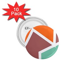Misc Shapes In Retro Colors 1 75  Button (10 Pack)