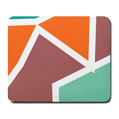Misc shapes in retro colors Large Mousepad