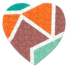 Misc shapes in retro colors Jigsaw Puzzle (Heart)