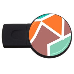 Misc shapes in retro colors USB Flash Drive Round (4 GB)
