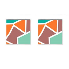 Misc shapes in retro colors Cufflinks (Square)