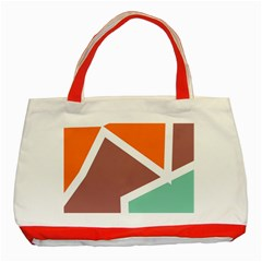 Misc shapes in retro colors Classic Tote Bag (Red)