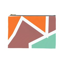 Misc shapes in retro colors Cosmetic Bag (Large)