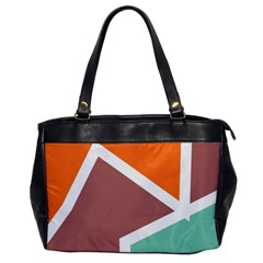 Misc Shapes In Retro Colors Oversize Office Handbag
