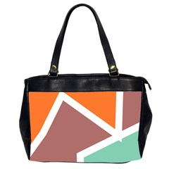 Misc Shapes In Retro Colors Oversize Office Handbag (2 Sides)