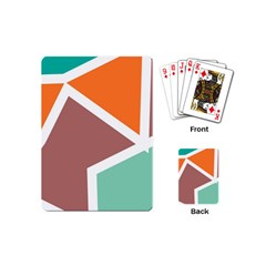 Misc shapes in retro colors Playing Cards (Mini)