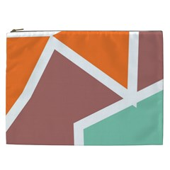 Misc shapes in retro colors Cosmetic Bag (XXL)