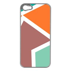 Misc shapes in retro colors Apple iPhone 5 Case (Silver)
