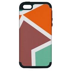 Misc shapes in retro colors Apple iPhone 5 Hardshell Case (PC+Silicone)