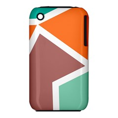 Misc shapes in retro colors Apple iPhone 3G/3GS Hardshell Case (PC+Silicone)