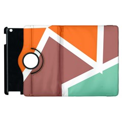 Misc shapes in retro colors Apple iPad 3/4 Flip 360 Case