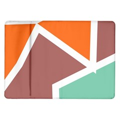 Misc shapes in retro colors Samsung Galaxy Tab 10.1  P7500 Flip Case