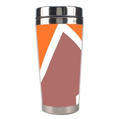 Misc shapes in retro colors Stainless Steel Travel Tumbler