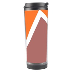Misc shapes in retro colors Travel Tumbler