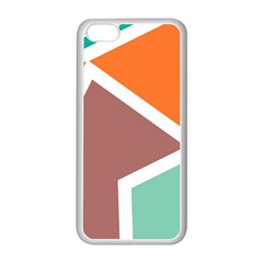 Misc shapes in retro colors Apple iPhone 5C Seamless Case (White)