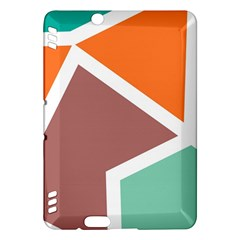 Misc Shapes In Retro Colors	kindle Fire Hdx Hardshell Case