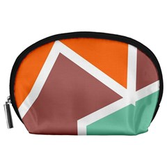 Misc shapes in retro colors Accessory Pouch