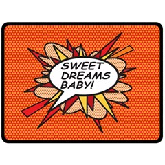 Sweet Dreams Baby!  Fleece Blanket (Large)
