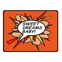 Sweet Dreams Baby!  Fleece Blanket (small)