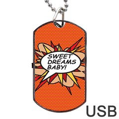 Sweet Dreams Baby!  Dog Tag USB Flash (Two Sides)