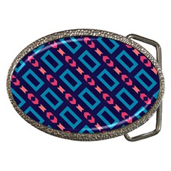 Rectangles And Other Shapes Pattern Belt Buckle