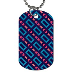 Rectangles and other shapes pattern Dog Tag (Two Sides)