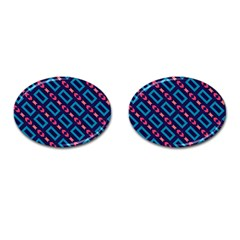 Rectangles And Other Shapes Pattern Cufflinks (oval)