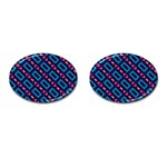 Rectangles and other shapes pattern Cufflinks (Oval) Front