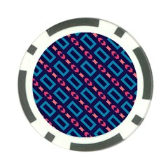 Rectangles and other shapes pattern Poker Chip Card Guard